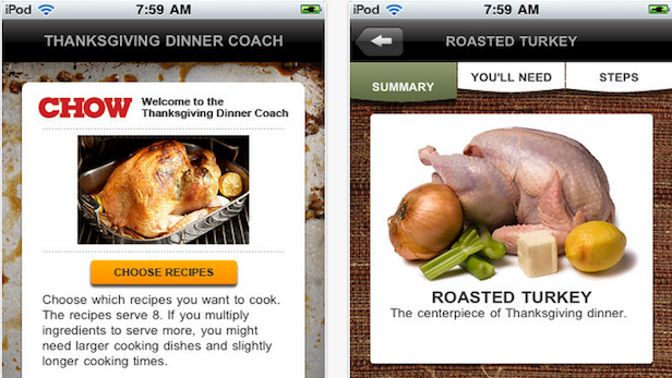 5 Apps for an Effortless Thanksgiving Dinner