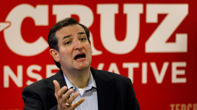"""Ted Cruz, Republican candidate for U.S. Senate, speaks to the media, the day after defeating Lt. Gov. David Dewhurst in a runoff primary election, Wednesday, Aug. 1, 2012, in Houston. Cruz says his tea party supporters who helped him pull off an upset in the Republican primary runoff are """"everyday Texans"""" who want common sense answers to problems plaguing the country. (AP Photo/Houston Chronicle, Brett Coomer)"""