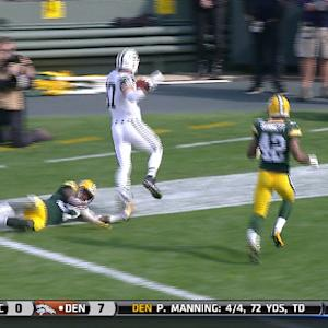 New York Jets wide receiver Eric Decker 29-yard touchdown catch from quarterback Geno Smith