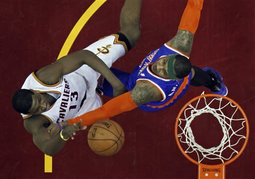 Anthony scores 31 as Knicks top Cavs 101-91