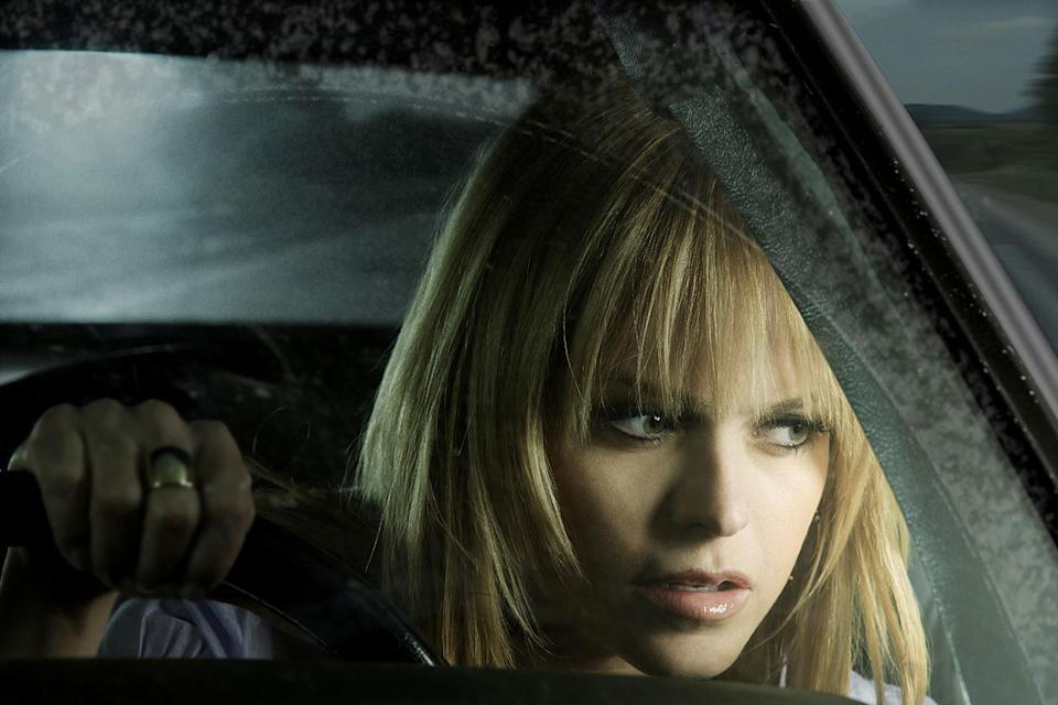 Ivy Chitty (Taryn Manning) participates in an underground cross-country road race in Drive.