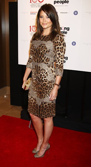 Holly Valance vamps up in figure-hugging leopard print and lace