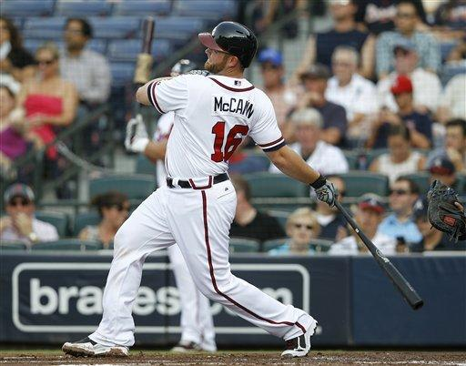 Braves hit 4 homers, beat Garza, Cubs 7-3