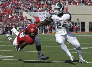 Michigan State rallies to beat Indiana 31-27
