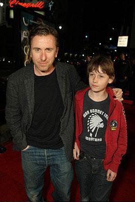 Tim Roth and son Hunter at the Los Angeles premiere of Warner Bros. Pictures' 10,000 B.C.