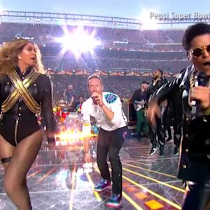 Watch Beyonce Totally Slay (With Chris Martin and Bruno Mars) At the Pepsi Super Bowl Halftime Show