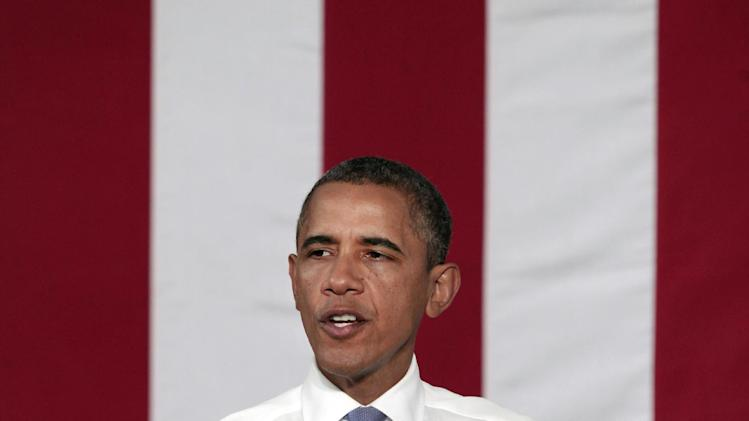 President Barack Obama speaks during a campaign event at Truckee Meadows Community College, Tuesday, Aug. 21, 2012, in Reno, Nev. (AP Photo/Rich Pedroncelli)