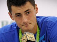 Captain Pat Rafter will not consider bad boy Bernard Tomic, pictured here in October 2012, for Australia&#39;s opening Davis Cup tie next year due to concerns over his on and off-court behaviour, a report said on Thursday