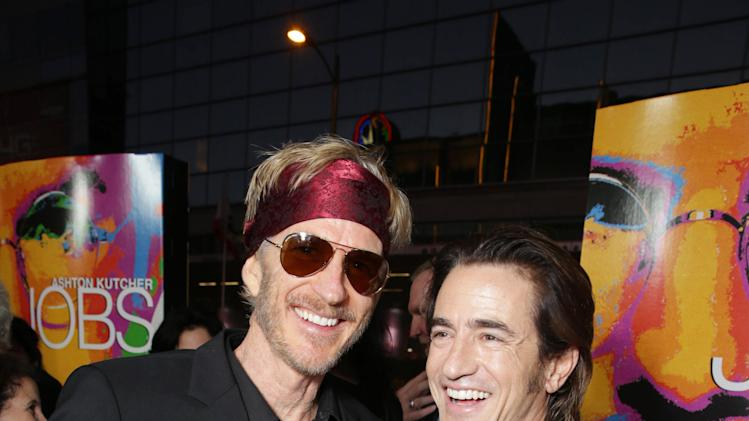 Matthew Modine and Dermot Mulroney seen at the Special Los Angeles Screening of Open Road and Five Star Feature Films 'JOBS', on Tuesday, August, 13, 2013 in Los Angeles. (Photo by Eric Charbonneau/Invision for Open Road/AP Images)