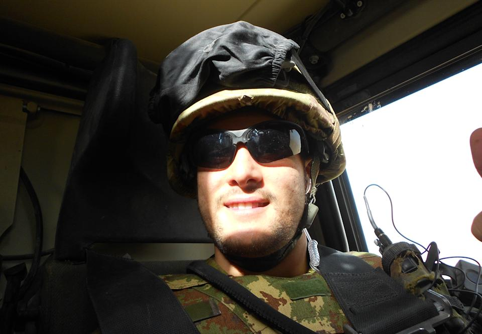 In this photo released  by the Italian Army Thursday, Oct. 25, 2012, corporal Tiziano Chierotti is seen in a recent photo during his service in Afghanistan. Chierotti was killed in a firefight in Farah province in the west of Afghanistan Thursday. Three other Italian soldiers were wounded. (AP Photo/Italian Army HO)