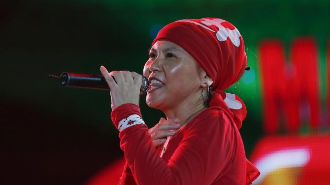 Japanese reggae artist Rankin Pumpkin performs at the Sting 2014 concert in Kingston
