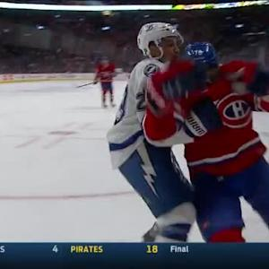 J.T. Brown Hit on P.K. Subban (09:03/2nd)