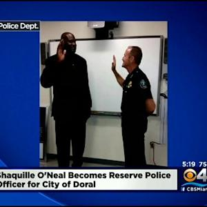 Shaquille O'Neal Sworn-In As Doral Reserve Police Officer