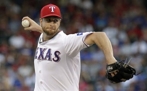 Feldman leads Rangers over Red Sox, 9-1