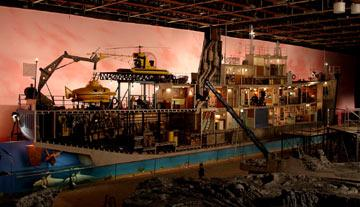 The set of the Belafonte from Touchstone Pictures' The Life Aquatic with Steve Zissou
