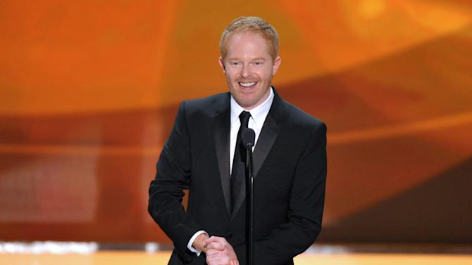 "FILE - This Jan. 27, 2013 file photo shows actor Jesse Tyler Ferguson from the ABC comedy series ""Modern Family,"" on stage at the 19th Annual Screen Actors Guild Awards at the Shrine Auditorium in Los Angeles. The Public Theater announced Tuesday that the ""Modern Family"" actor will play Dromio opposite Hamish Linklater's Antipholus for five weeks at the Delacorte Theatre starting May 28. Daniel Sullivan will direct. (Photo by John Shearer/Invision/AP, file)"