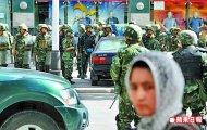 新疆喀什連2天發生暴力襲擊,當地已進入戒嚴狀態,軍警布陣。