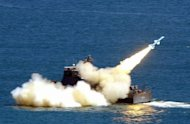 Taiwan&#39;s Navy launches a Hsiungfeng missile during military exercises in 2003. Taiwan has for the first time deployed cruise missiles capable of striking key military bases along the southeast coast of the Chinese mainland, according to local media reports