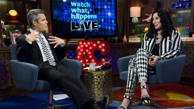 Andy Cohen and Cher are seen on Bravo's 'Watch What Happens Live' on June 28, 2013 -- Bravo