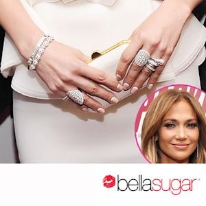 Jennifer Lopez's Upside-Down French Manicure