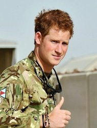 "<p>Prince Harry gives the thumbs up upon his arrival at Camp Bastion in Afghanistan on September 7. ""We will do our best to kill Prince Harry and Britain's other troops based in Helmand,"" a militia spokesman told AFP.</p>"