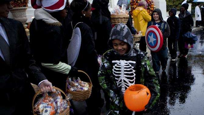 President Obama And The First Lady Host Halloween Party For Military Families