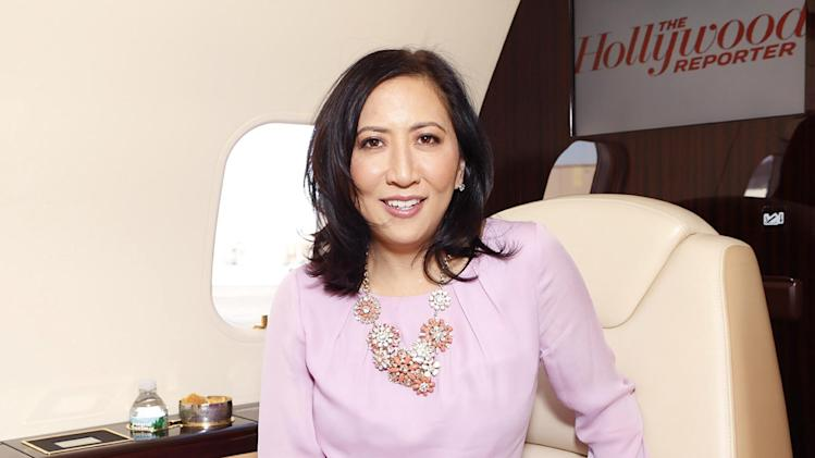 IMAGE DISTRIBUTED FOR BOMBARDIER - THR Editorial Director Janice Min is seen at The Hollywood Reporter's Palm Springs Shuttle presented by Bombardier Business Aircraft - Day 2, on Saturday, January 5, 2013 in Palm Springs, California. (Photo by Todd Williamson/Invision for Bombardier/AP Images)