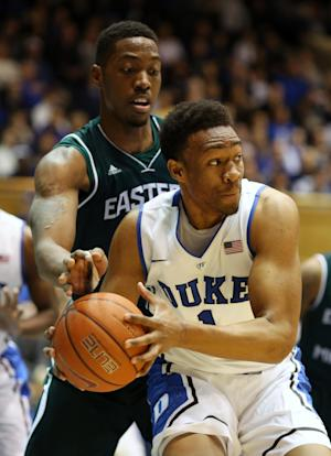 No. 9 Duke rolls past Eastern Michigan, 82-59