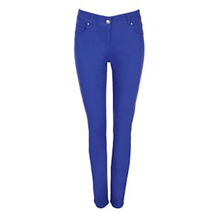 Cobalt Twill Slim Leg Jean Wallis: Blue Tones