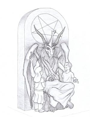 This artist's rendering provided by the Satanic …