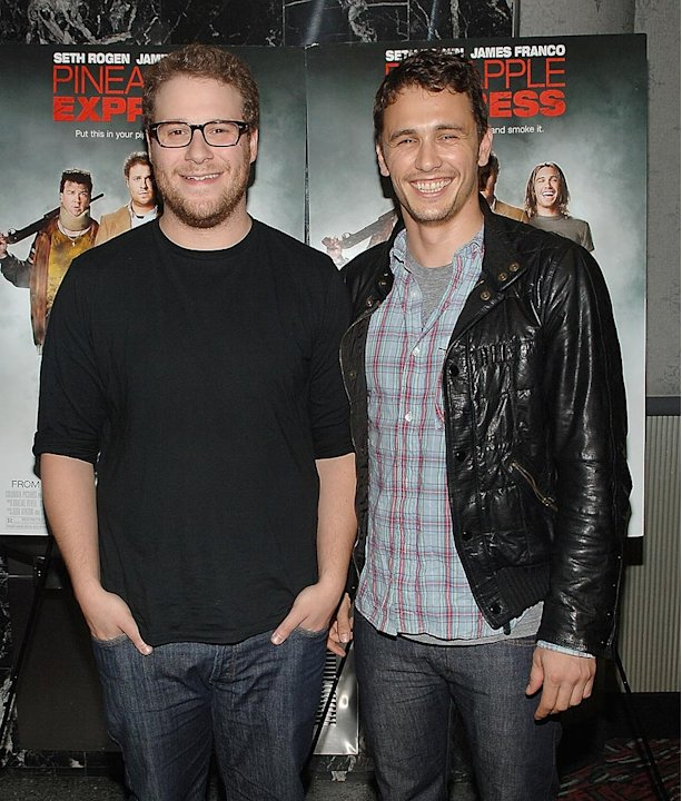 Pineapple Express NY Premiere 2008 Seth Rogen James Franco