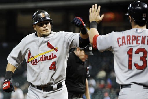 Kozma's homer helps Cards to 6-1 win over Astros