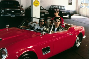 Mia Sara , Alan Ruck and Matthew Broderick in Paramount Pictures' Ferris Bueller's Day Off