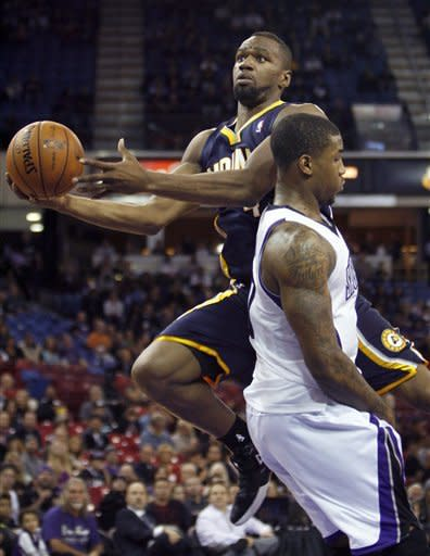 West leads Pacers past Kings 97-92