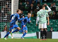 William McKay's, centre, second-half effort was enough to defeat Celtic