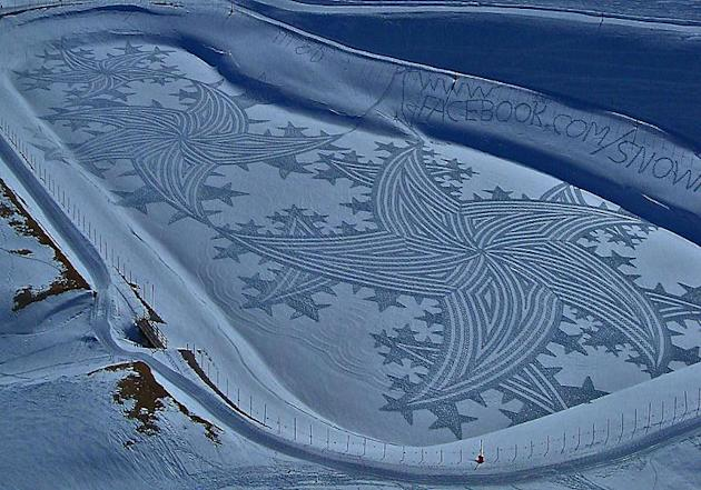 Artist Creates Amazing Snow Art