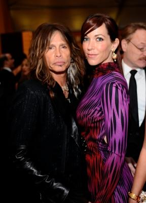 Steven Tyler and Erin Brady attend the 19th Annual Elton John AIDS Foundation Academy Awards Viewing Party at the Pacific Design Center, Los Angeles, on February 27, 2011 -- Getty Images