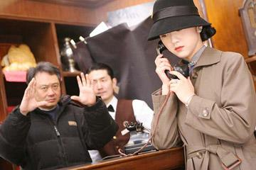 Director Ang Lee and Tang Wei behind the scenes of Focus Features' Lust, Caution