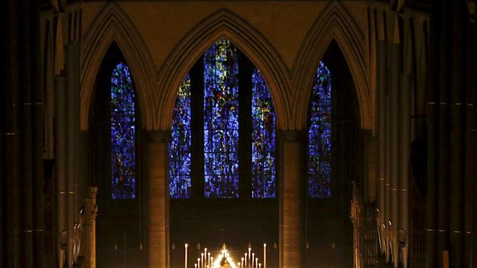 "Salisbury Cathedral celebrates the beginning of Advent with a candle lit service and procession, ""From Darkness to Light"", in Salisbury"