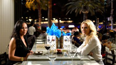 Morgan Stewart and Dorothy Wang Chow Down at Hexx