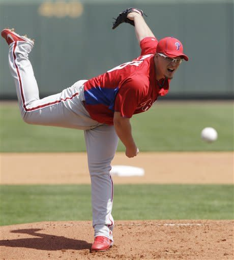 Worley strikes out 8 in Phils' win over Pirates