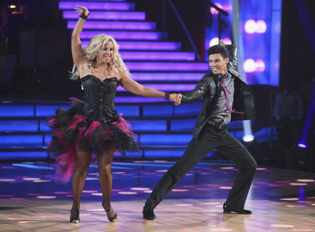 Chelsie Hightower and Roshon Fegan perform on &quot;Dancing With the Stars.&quot; 