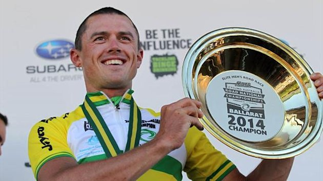 Australian road cycling championships men's elite road race winner Simon Gerrans