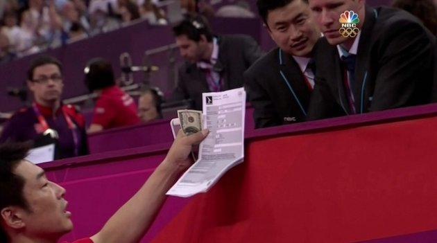 > Japan�s gymnastics coach has $100 bills in his hand to file appeal? (pic) - Photo posted in BX SportsCenter | Sign in and leave a comment below!