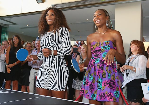 Williams Sisters Tennis Photos http://es.eurosport.yahoo.com/fotos/tenis-1320060180-slideshow/williams-sisters-table-tennis-play-20130110-013611-009--ten.html