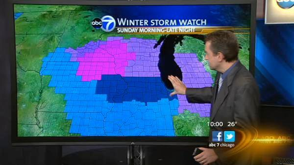 Winter Storm Watch: Freezing rain headed to Chicago area