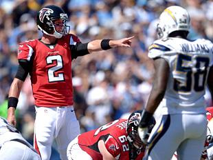 Matt Ryan calls an audible. (Getty Images)