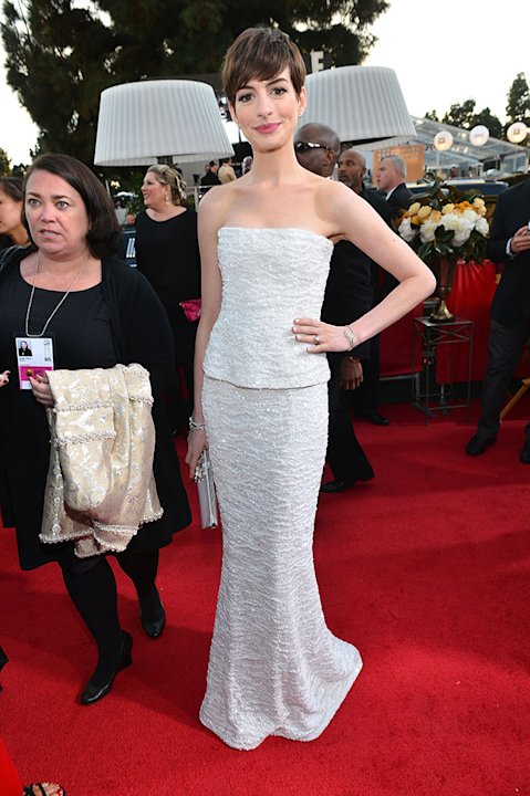 "NBC's ""70th Annual Golden Globe Awards"" - Red Carpet Arrivals: Anne Hathaway"