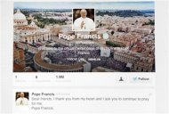A picture illustration shows the first tweet of newly elected Pope Francis March 17, 2013. REUTERS/Stefano Rellandini