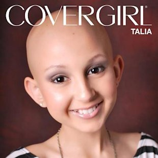 Cancer patient Talia Castellano has been selected to be a model for CoverGirl. (Facebook)
